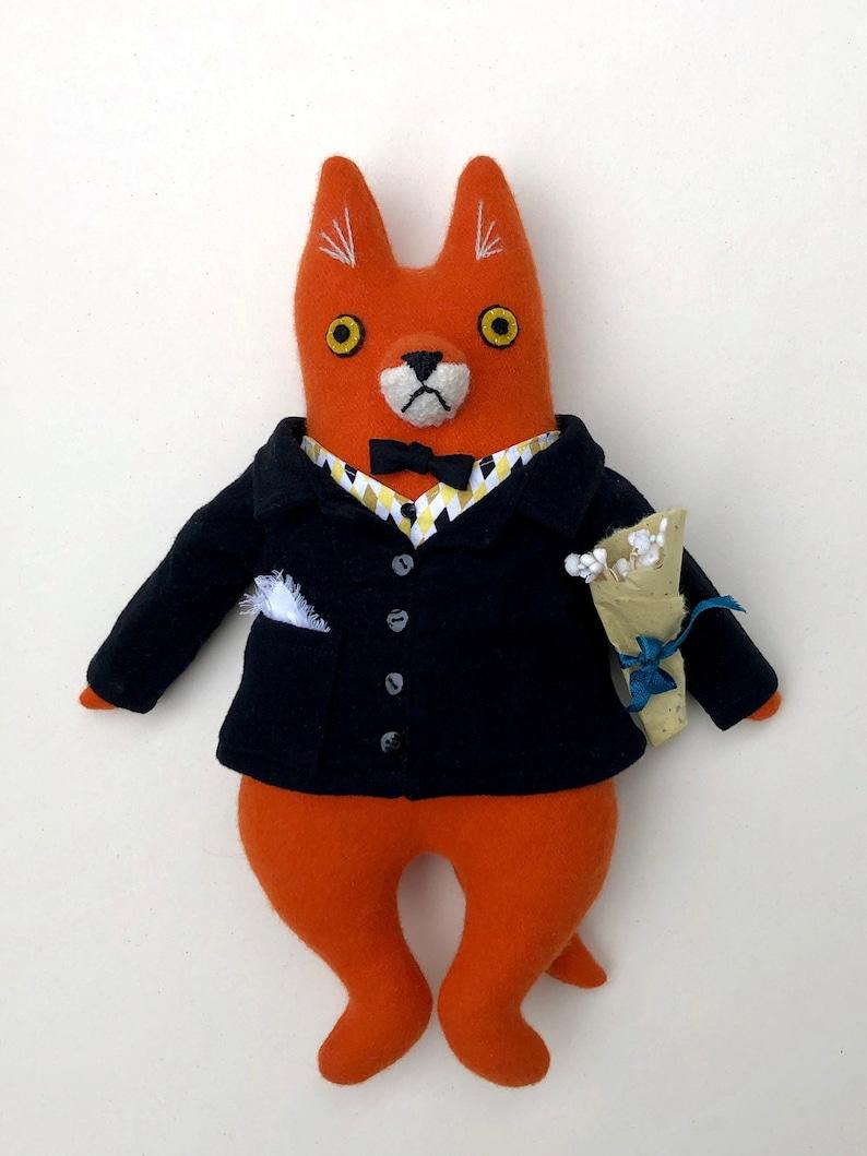 Fox Fellow Big Night Out wool doll image 1