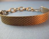 Viking ship bracelet  Brass & Sterling wearable two ways weave /woven pattern
