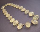 Prehnite bead necklace, new jade necklace Phrenite