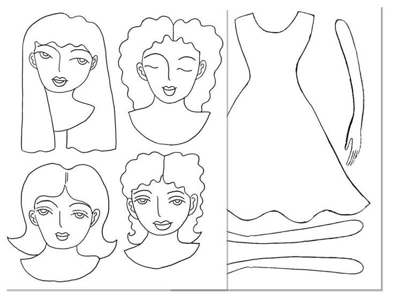 asian-ballerina-paper-doll-bw   Paper dolls, Paper dolls clothing ...   598x794