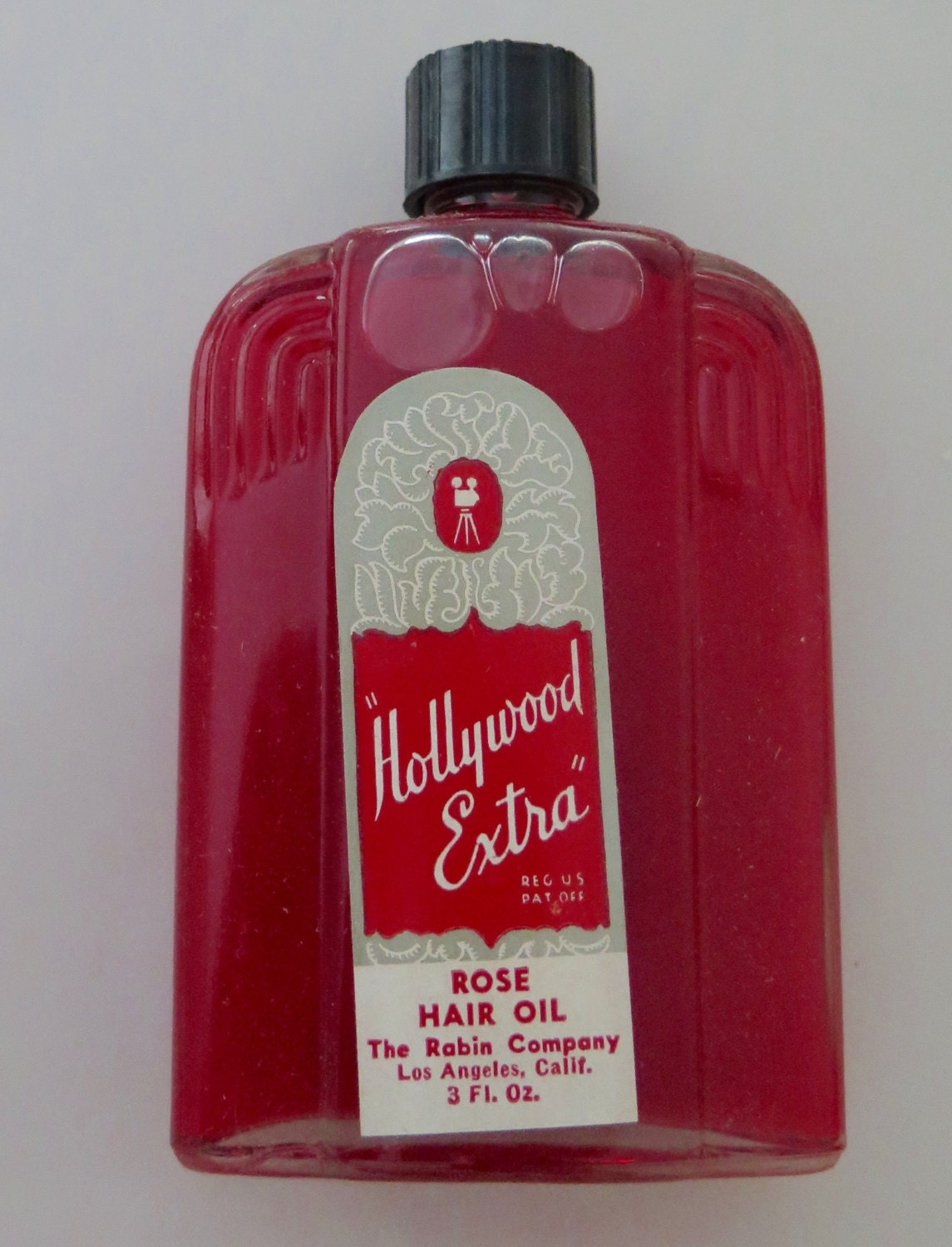 Vintage Hollywood Extra Rose Hair Oil Art Deco Bottle Etsy