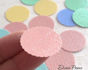 Dollhouse Miniature Supplies - Pastel Bakery Boards - Set of 25 with 5 different colors