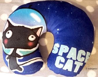 Neck Travel Pillow Space Cat