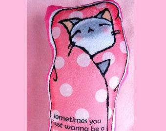 Kawaii Purrito Cat Plushie - Siamese