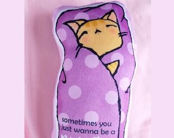 Kawaii Purrito Cat Plushie - Ginger Cat