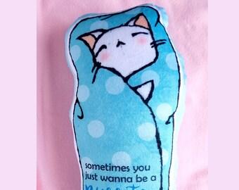 Kawaii Purrito Cat Plushie - White Cat