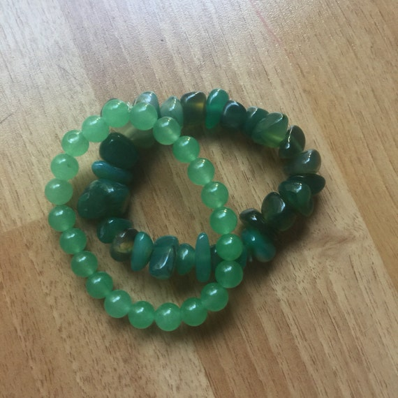 Gorgeous Green Heart Chakra Stack