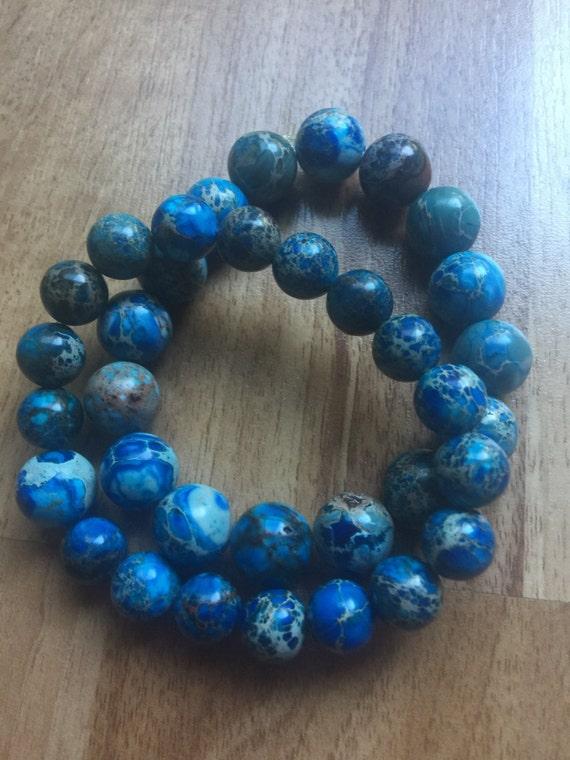 Bright Blue Imperial Jasper Bracelet