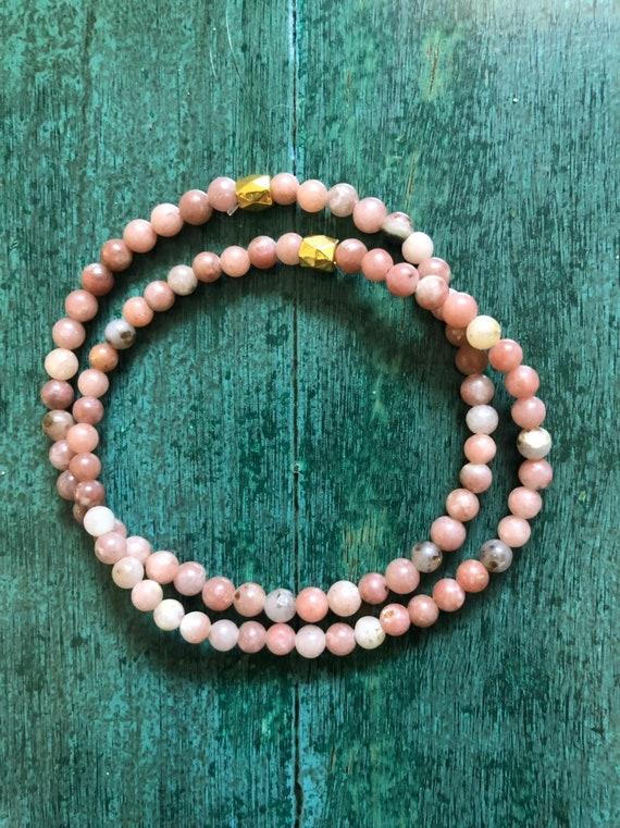 Rhodonite Mini Bracelet Set