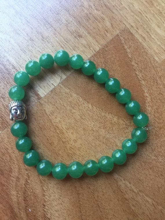 Bright Green Aventurine Buddha Bracelet
