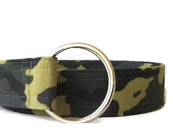 Women's Camouflage Print Fabric Belt