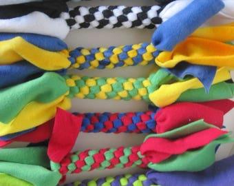 Fleece Tug Chew Toy Dogs Cats