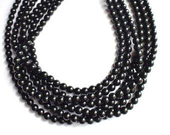 Michelle - Black Glass Bridesmaid Multi Strand Statement Necklace
