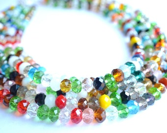 Aria - Multi Color Glass Statement Necklace