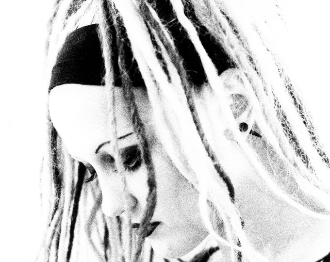 Black and White Gothic Girl Art Photograph