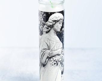 Cemetery Angel Photo Pillar Candle