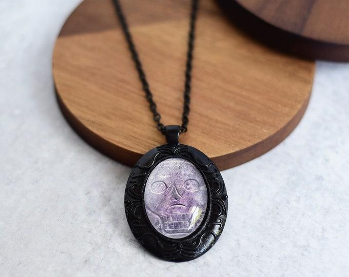 Gothic Skull Cameo Pendant Necklace