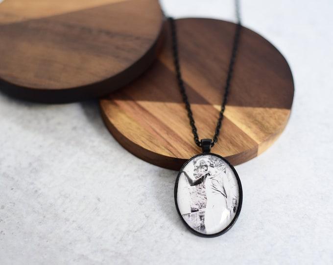 Black Angel Pendant Necklace
