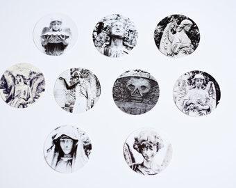 Cemetery Angel Headstone Photo Stickers