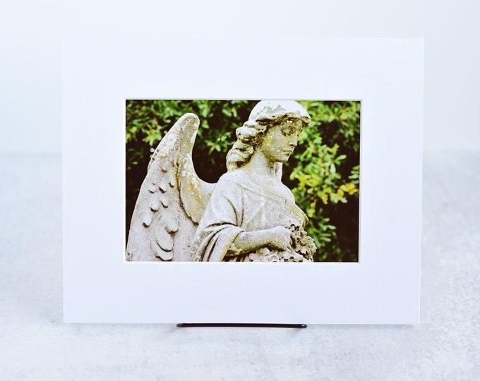 Cemetery Angel Fine Art Matted Print