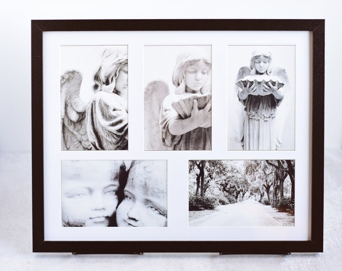 Black and White Cemetery Photo Collage