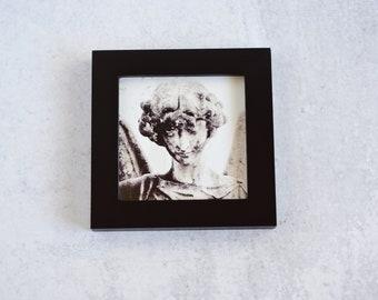 Cemetery Angel Statue Framed Print