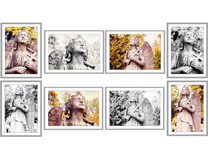 Sleepy Hollow Cemetery Angel Photo Postcards