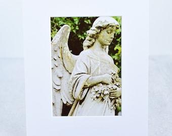 Cemetery Statue Fine Art Matted Print