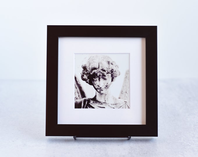 Gothic Angel Photo Matted and Framed