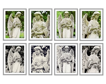 Cemetery Angel Statue Postcards