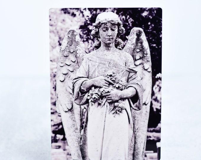 Cemetery Angel Fine Art Metal Print