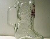 vintage cowboy boot stein