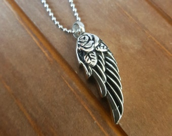 Cremation Feather Angel Wing Urn Custom Personalized Charm Memorial Pet  Cremation Jewelry In Memory Mommy of an Angel Always by My Side