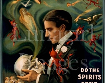 400 vintage images, MAGICIANS ACROBATS MUSICIANS, Victorian theater posters, digital ephemera, Circus art occult hypnosis Houdini, Download