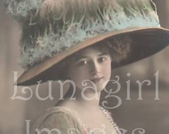 1000 Vintage images, LADIES PHOTOS, Victorian Edwardian women flappers, antique photos, French postcards, digital ephemera DOWNLOAD, Vol One