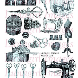 Sepia Mixed Media Digital Collage Sheet