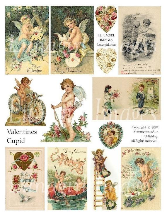 Victorian angels baby angels 147 CHERUBS Vintage VALENTINES digital ephemera art images DOWNLOAD antique valentine cards vintage Cupid