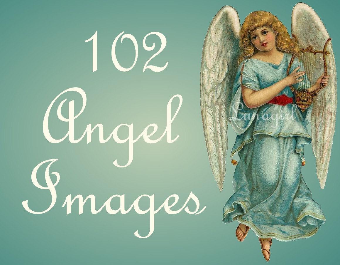 102-Engel-Vintage-Bilder DOWNLOAD viktorianischen Postkarten | Etsy