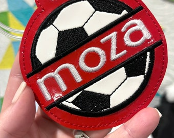 Soccer Bag Tag - Team Sports Gift - High School athletes - Backpack Tag - School Spirit - Personalized
