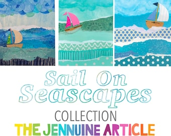 Sail On Seascapes Collection - 6 Printed Cards