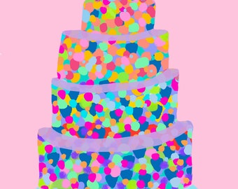 Birthday Cake - 1 Printed Card