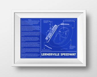 Racing car blueprint etsy sale lernerville speedway blueprint art print 11 x 17 race track sketch malvernweather Choice Image