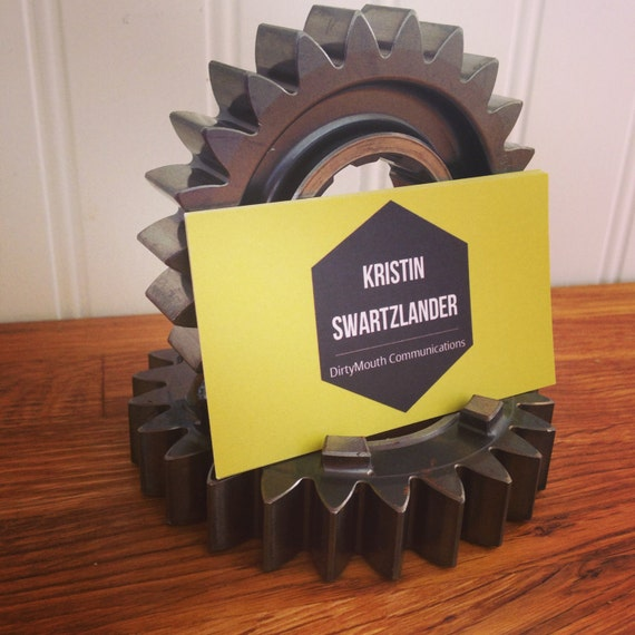 Indycar Business Card Holder Gear Set Racing Gears Used By Etsy