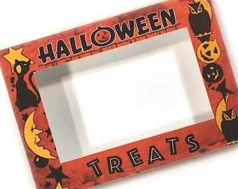 DIGITAL Vintage Halloween Treat Box Craft Vignette File Printable INSTANT DOWNLOAD