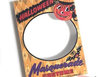 DIGITAL Vintage Halloween Costume Box Craft Vignette File Printable INSTANT DOWNLOAD