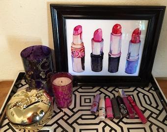 Custom 10.5 x 12.5 Framed Lipstick Art Print