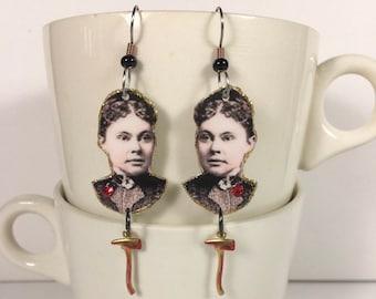 Lizzie Borden Earrings axe murderer 40 whacks