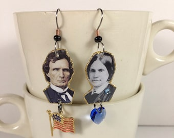 Thaddeus Stevens and Lydia Hamilton Smith earrings equal rights Black Lives Matter activist civil rights