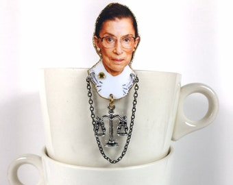 Ruth Bader Ginsburg Brooch Supreme Court Justice Notorious RBG feminist
