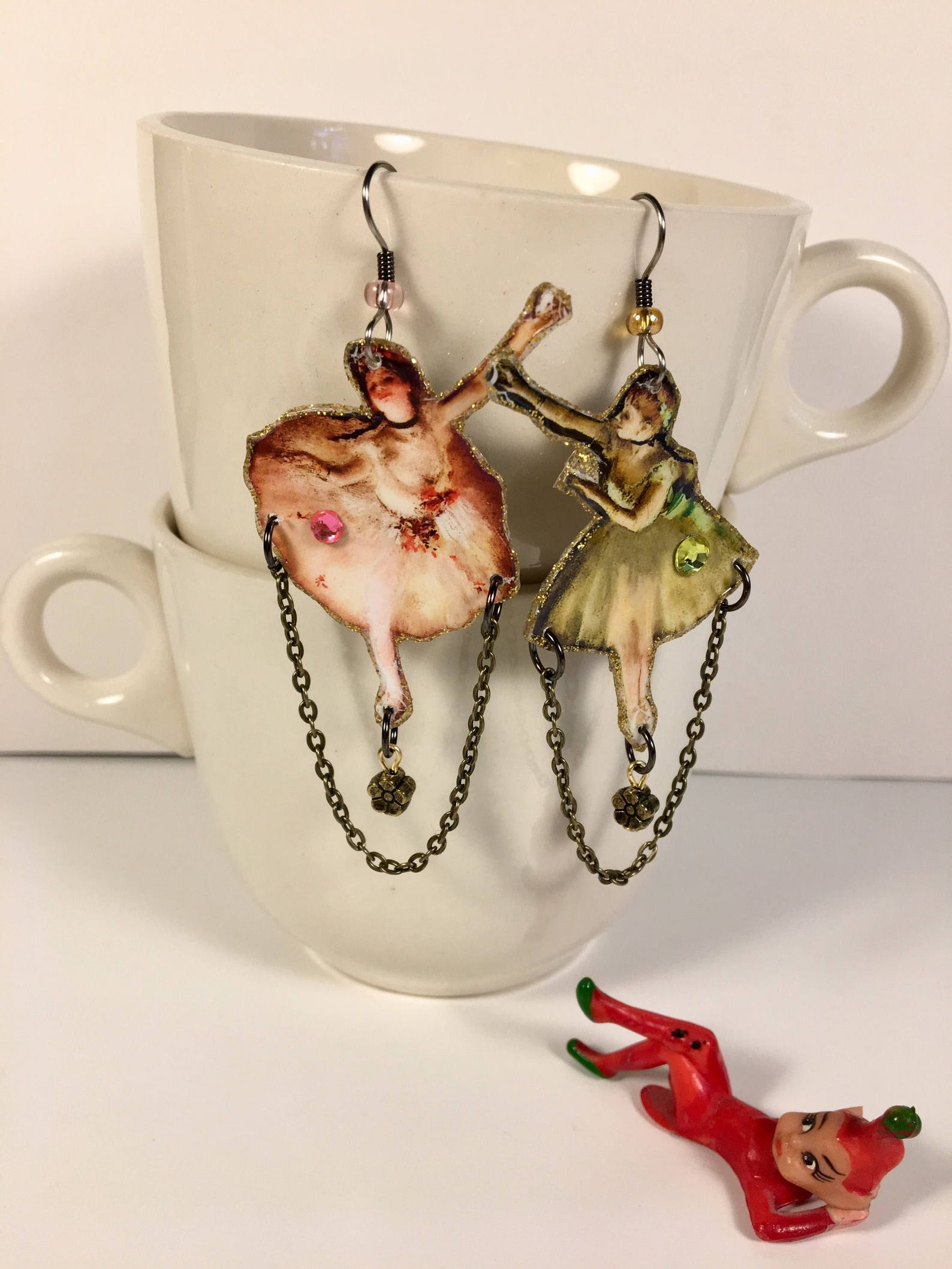 edgar degas earrings ballet dancers paris artist painter old masters impressionist l'absinthe ballerina